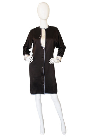 1980s Geoffrey Beene Tuxedo Shift Dress