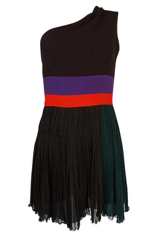 S/S 2005 Prada  Runway Look 22 One Shoulder Color Block Dress