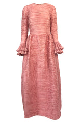 1960s Sybil Connolly Couture 'Non Chalance' Pink Pleated Linen Dress