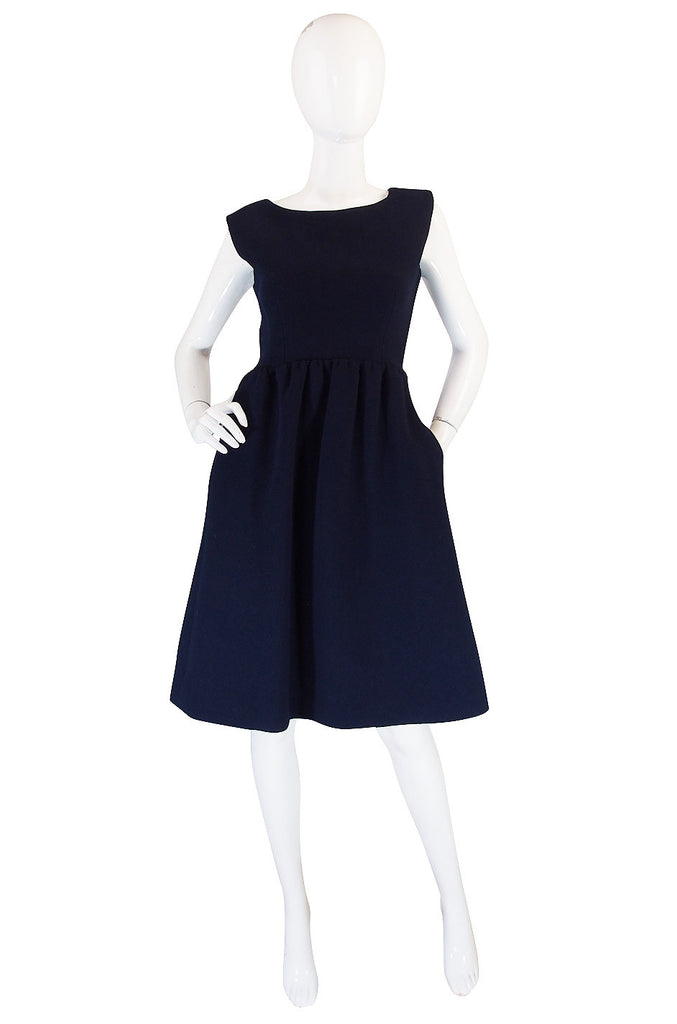 1960s Structured Blue Norman Norell Dress