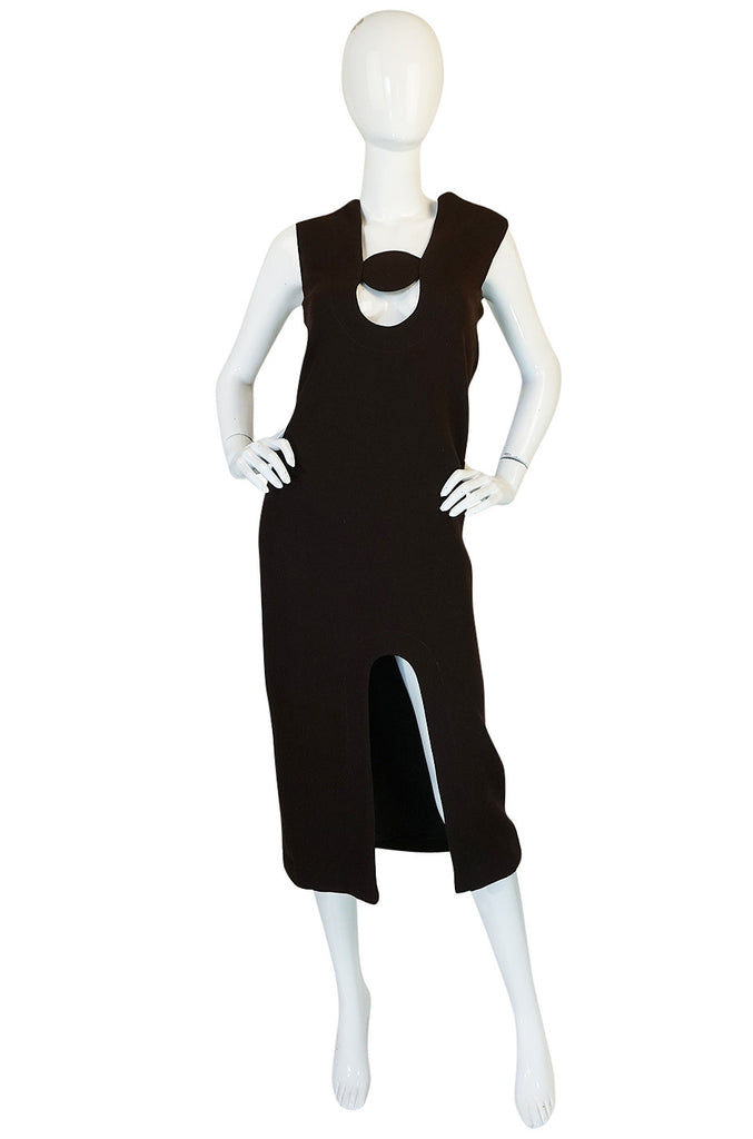1969-1970 Haute Couture Pierre Cardin Cut Out Dress