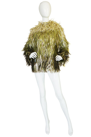 Museum Exhibited F/W 2000 Chloe Runway Plastic Feather Coat