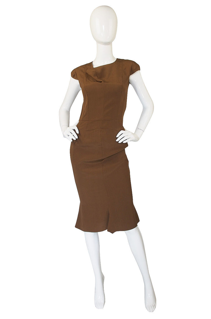 F2008 Yves Saint Laurent Silk Fitted Dress
