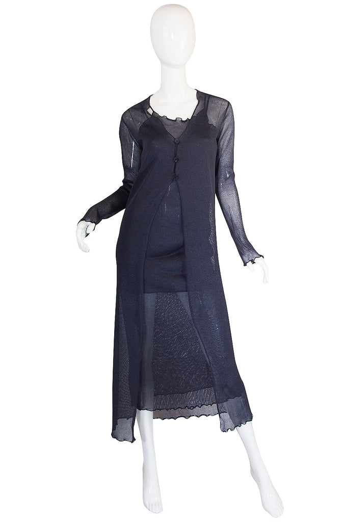 1990s Romeo Gigli 3 Piece Net Dress Set