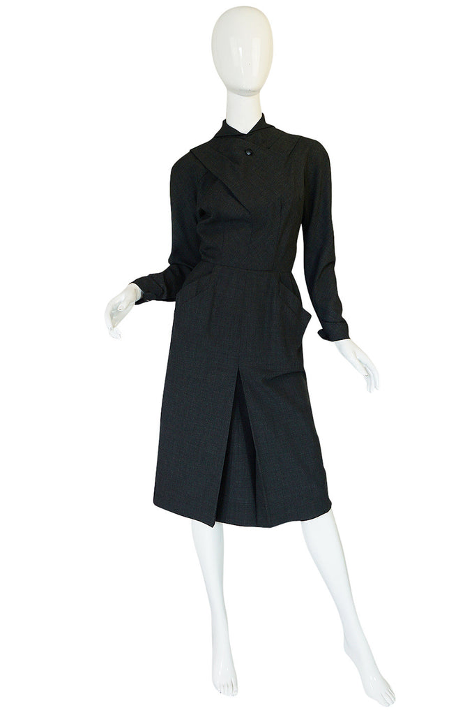 c1955 Christian Dior Original Demi-Couture Fitted Dress