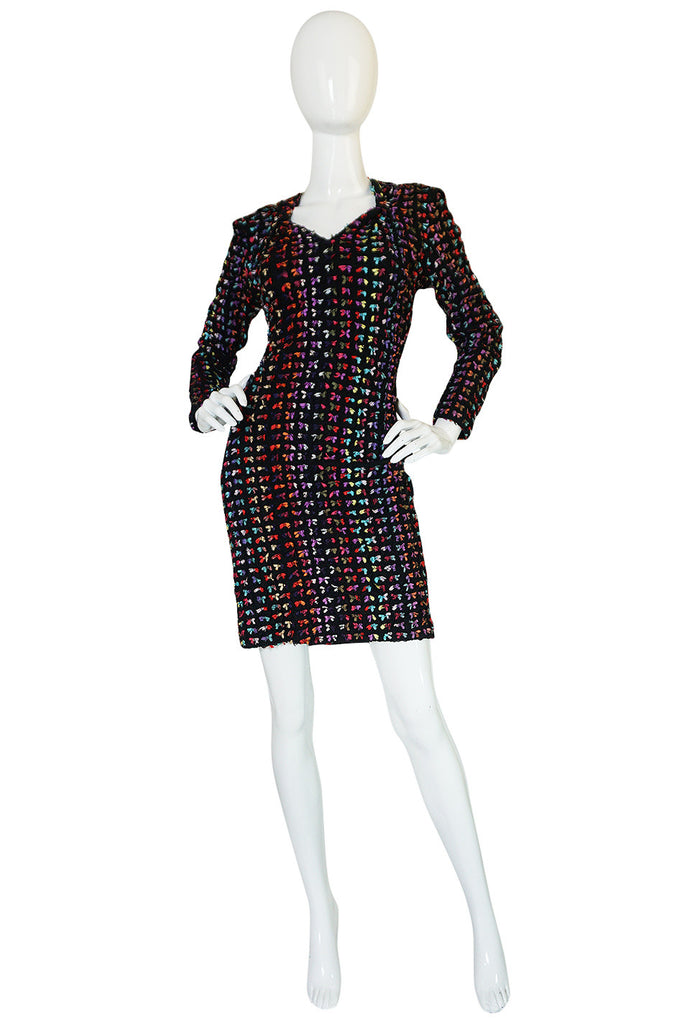 Runway F/W 1988-89 Patrick Kelly Multi Color Bow Dress
