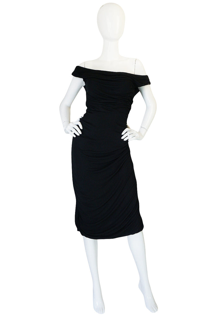 Extraordinary 1940s Ceil Chapman Attr Jersey Dress