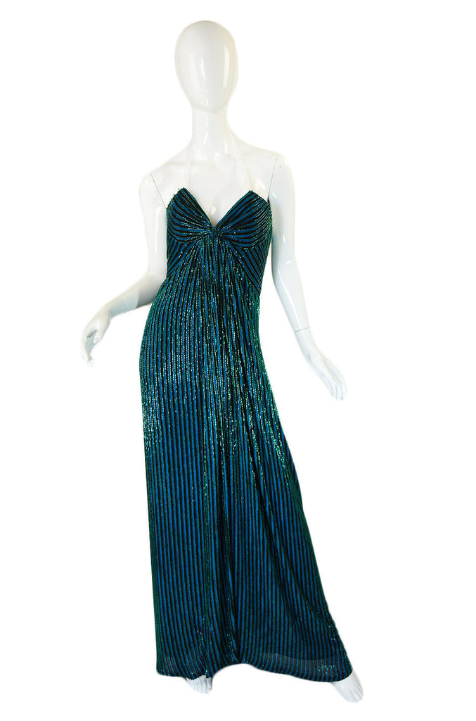 1970s Beaded Bob Mackie Gown