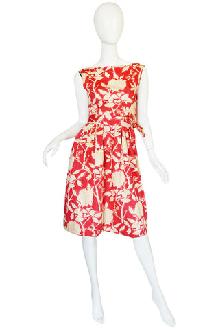 1960s Marc Bohan for Christian Dior Floral Print Dress