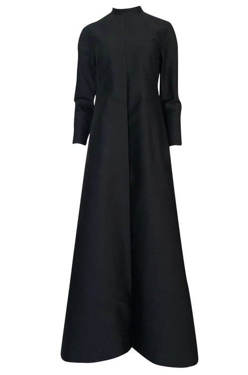 Fall 2013 Valentino Runway Finale Long Sleeve Simple & Graceful Black Dress