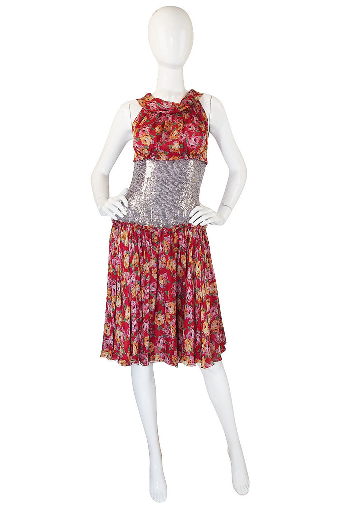 1990s Silk & Sequin Dolce and Gabbana dress