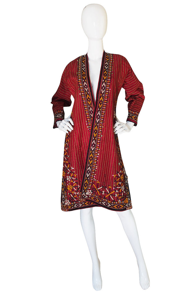 1960s Embroidered & Sequin Hand Made Coat