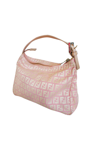 Early 2000s Pink and Gold Fendi Logo Mini Bag