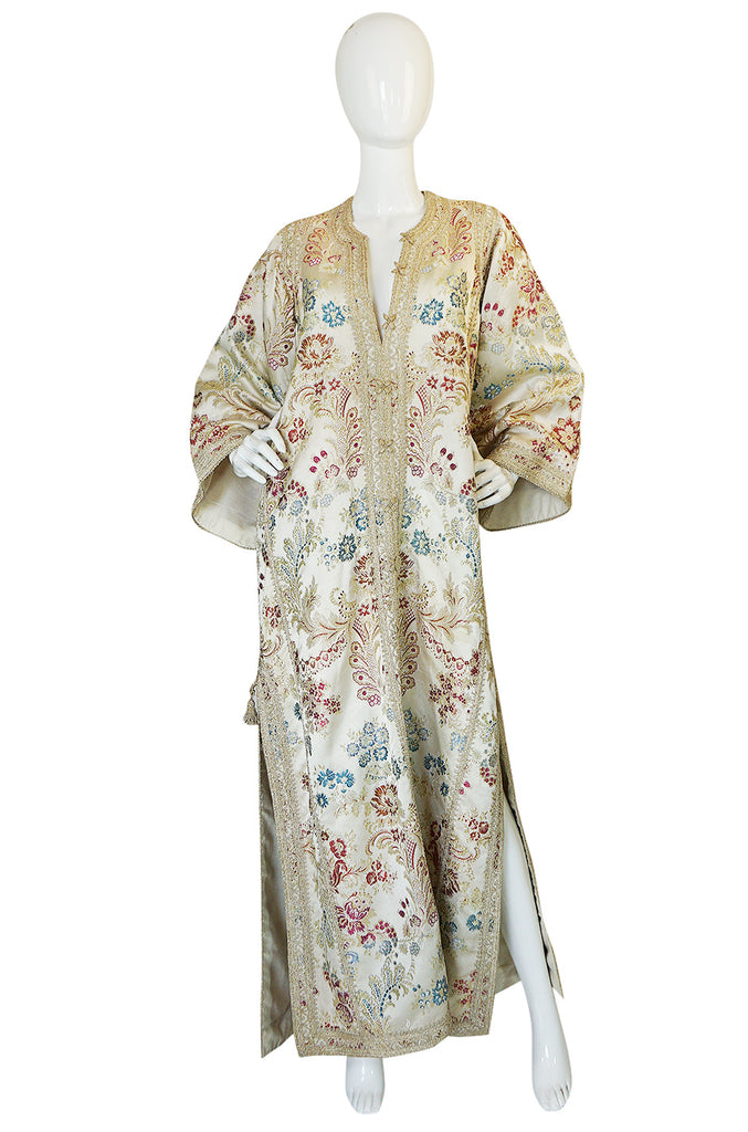 1960s Gold & Cream Brocade Morrocan Wedding Caftan