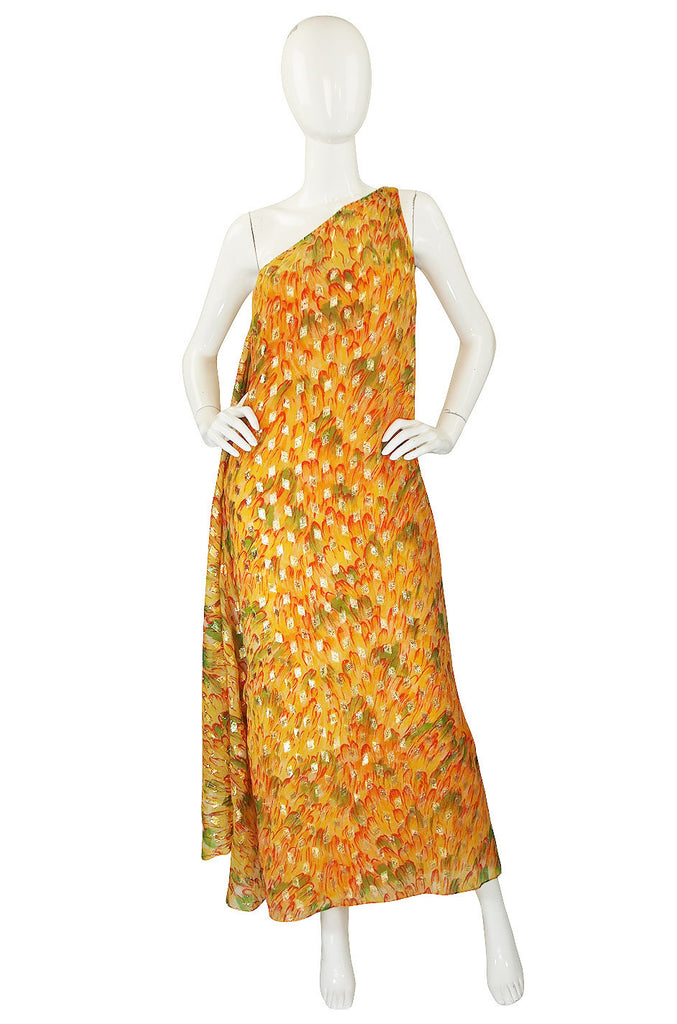 1960s Yellow Metallic Silk Malcolm Starr