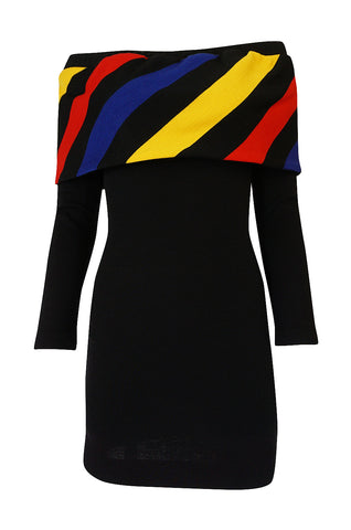 Museum Exhibited A/W 1989-1990 Patrick Kelly Off Shoulder Dress