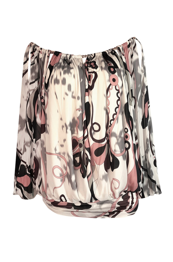 F/W 2014 Peter Dundas for Emilio Pucci Runway Printed Jersey Top