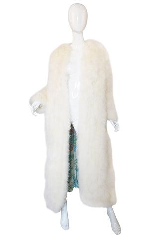 1973 Donald Brooks Ostrich Feather Maxi Coat