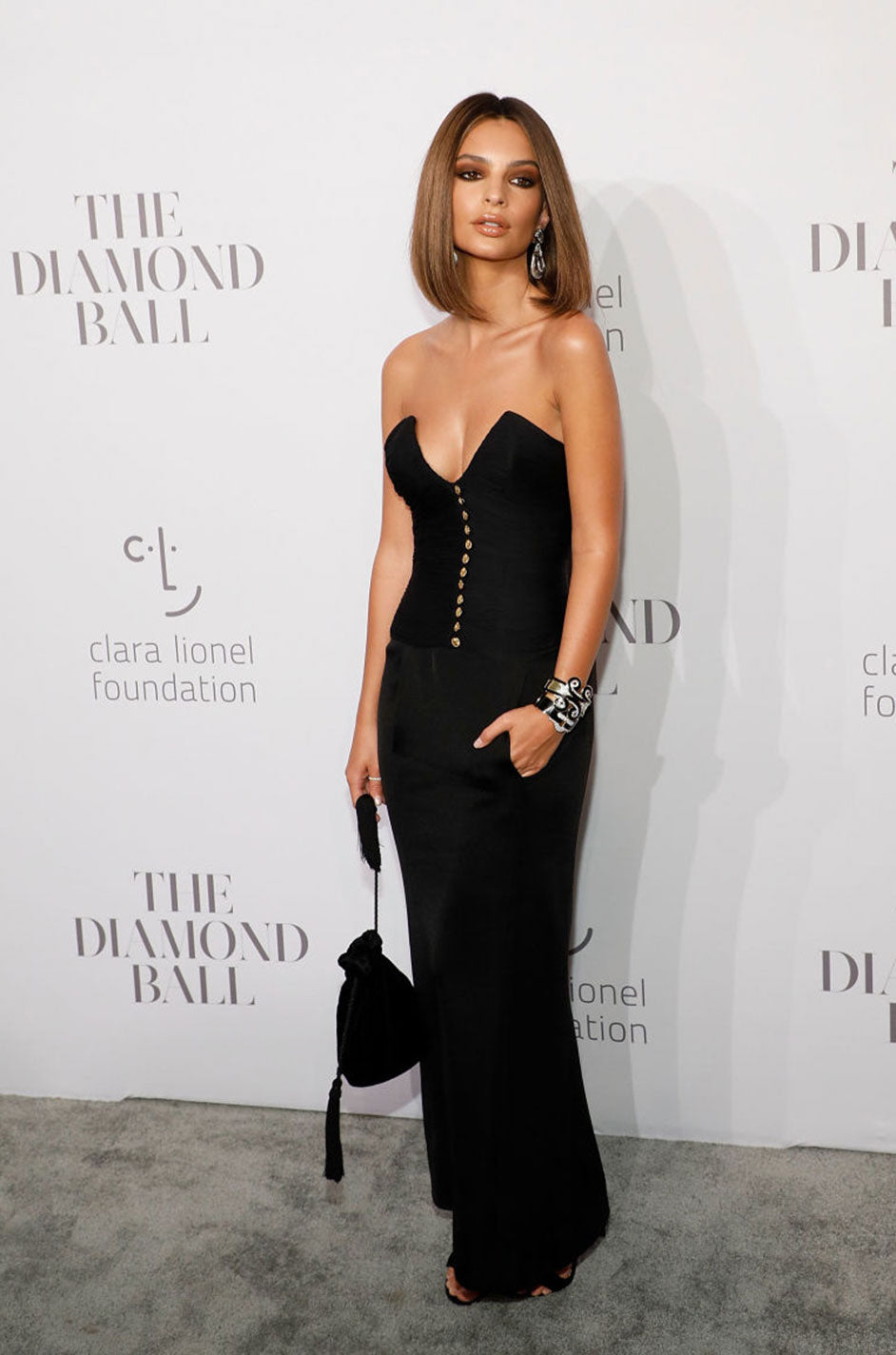 9c0c7035843 ... 1985 Chanel Silk   Jersey Corset Dress worn by Emily Ratajkowski ...