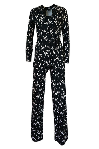 c.1976 Diane Von Furstenberg Black & White Jumpsuit & Jacket Set