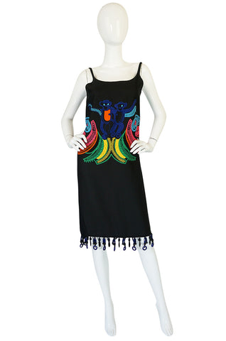 Look 29 S/S 2011 Prada Runway Embroidered Monkey Dress