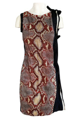 Spring 2009 Prada Runway Snakeskin Print Open Side Dress