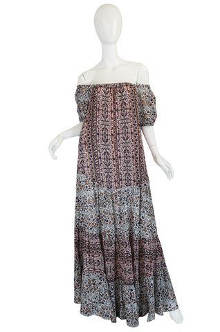 S/S 2016 See by Chloe RTW Look 25 Off Shoulder Printed Maxi Dress