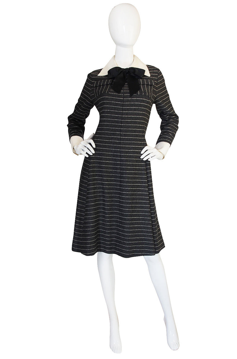 1960s Chic Striped Geoffrey Beene Day Dress