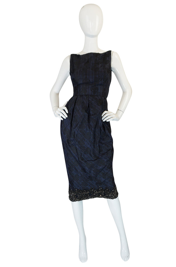 Recent Giambattista Valli Fine SIlk Dress w Crystal Detailed Hem