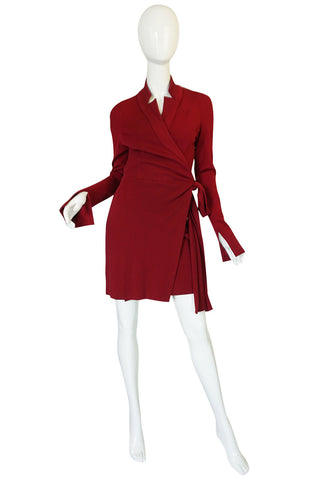 Recent Red Diane Von Furstenberg Wrap Dress