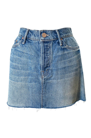Spring 2015 Mother Denim Distressed Edge Micro Mini Skirt