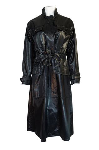 Documented 1973 Yves Saint Laurent Patent Finish Trench