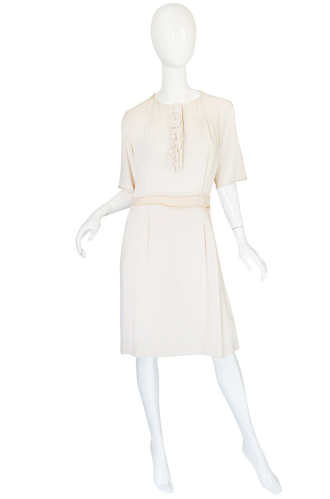 Early 2000s Pale Blush Cream Silk Chloe Dress