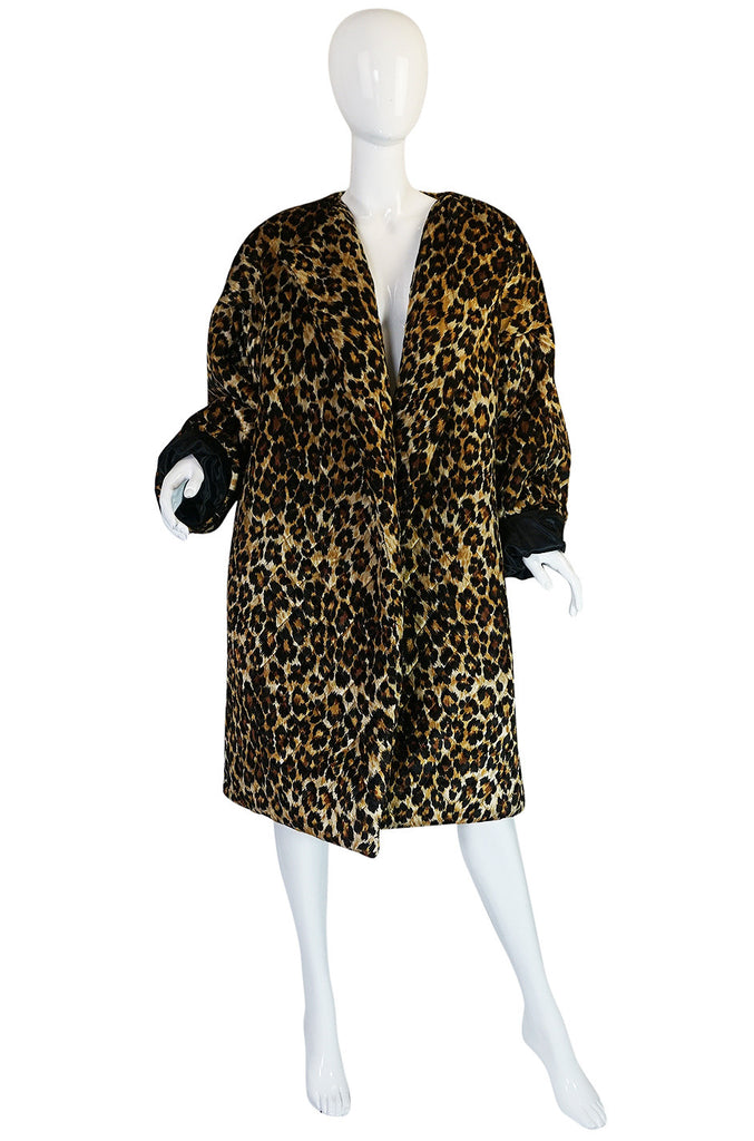 1980s Patrick Kelly Leopard Print Sleeping Blanket Coat