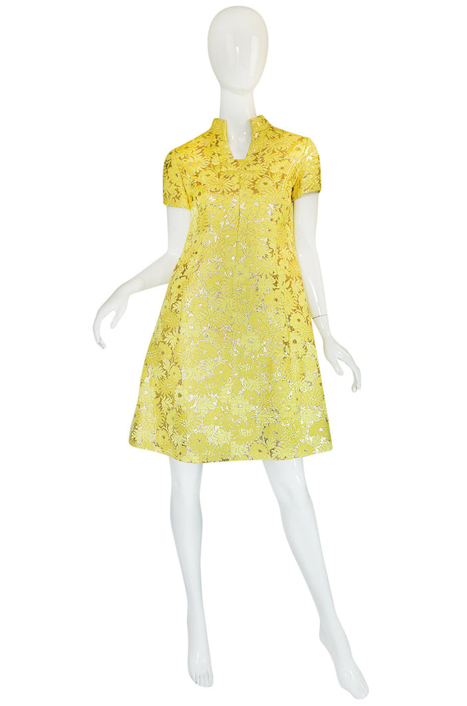 c.1968 Early Oscar de la Renta for Jane Derby Silk Dress