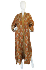 1960s Heavy Brocade & Gold Thread Moroccan Caftan