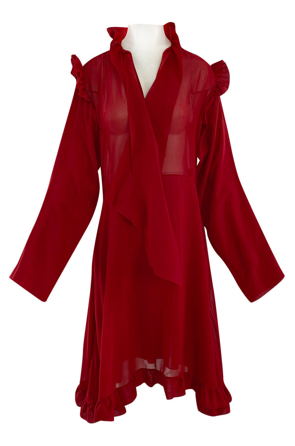 Archival Spring 2016 Vetements Runway Over-Sized Red Dress Unworn w Tags