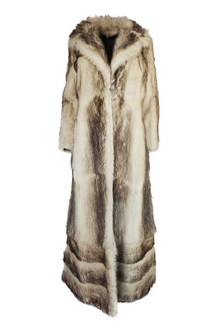 c1971-73 Donald Brooks Convertible Length Coyote Fur Coat