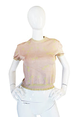 Spring 1991 Collection Pink Dot Azzedine Alaia Knit Top
