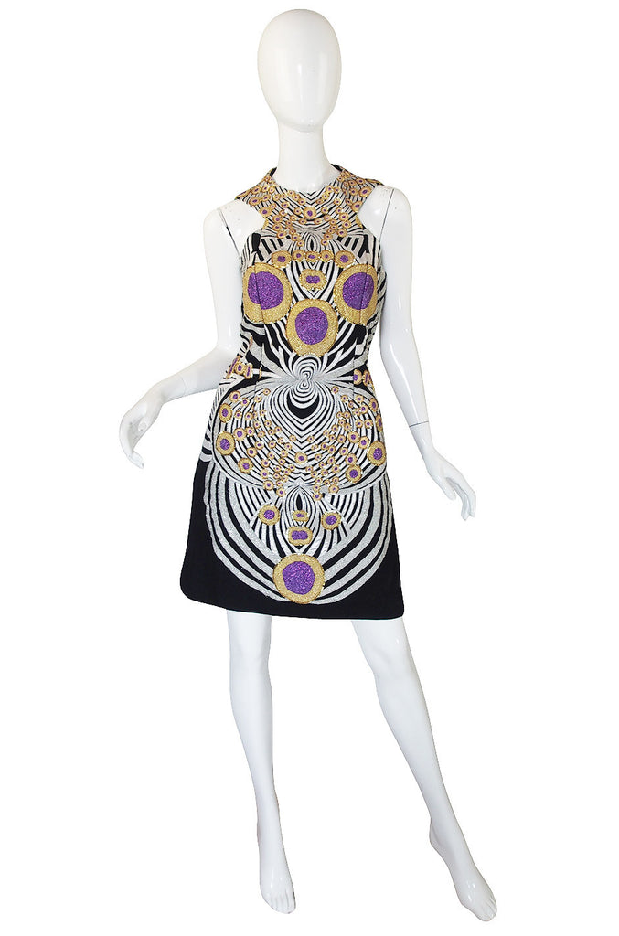 Recent Metallic Embroidery Manish Arora Dress