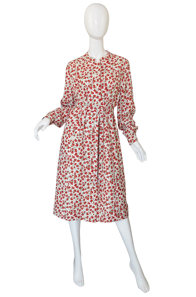 Now On Sale - 1960s Andre Laug Floral Dress or Coat