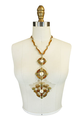 Fall 2007 Chanel Byzantine Cross Gripoix Pendant Necklace