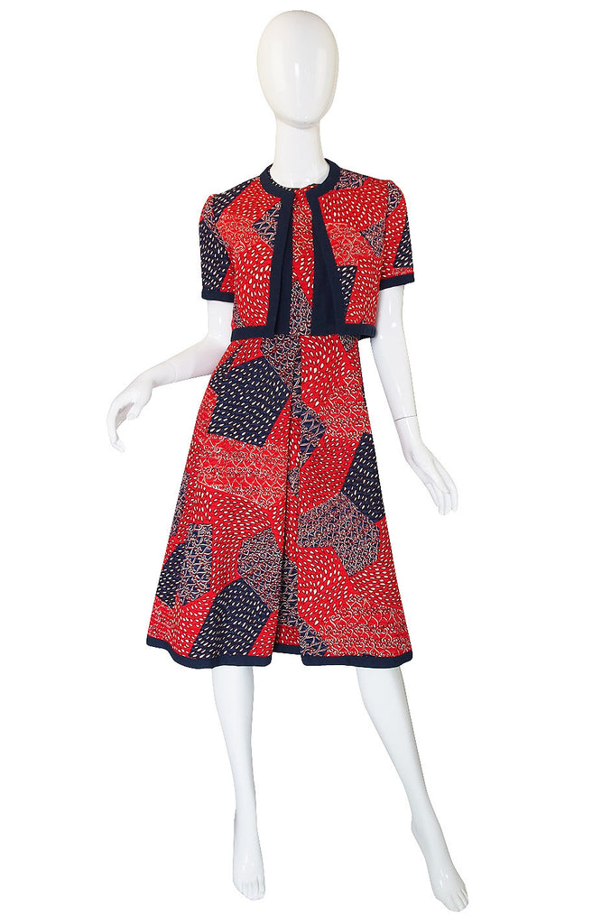 "1960s Malcolm Starr ""Bandana"" Dress & Jacket"