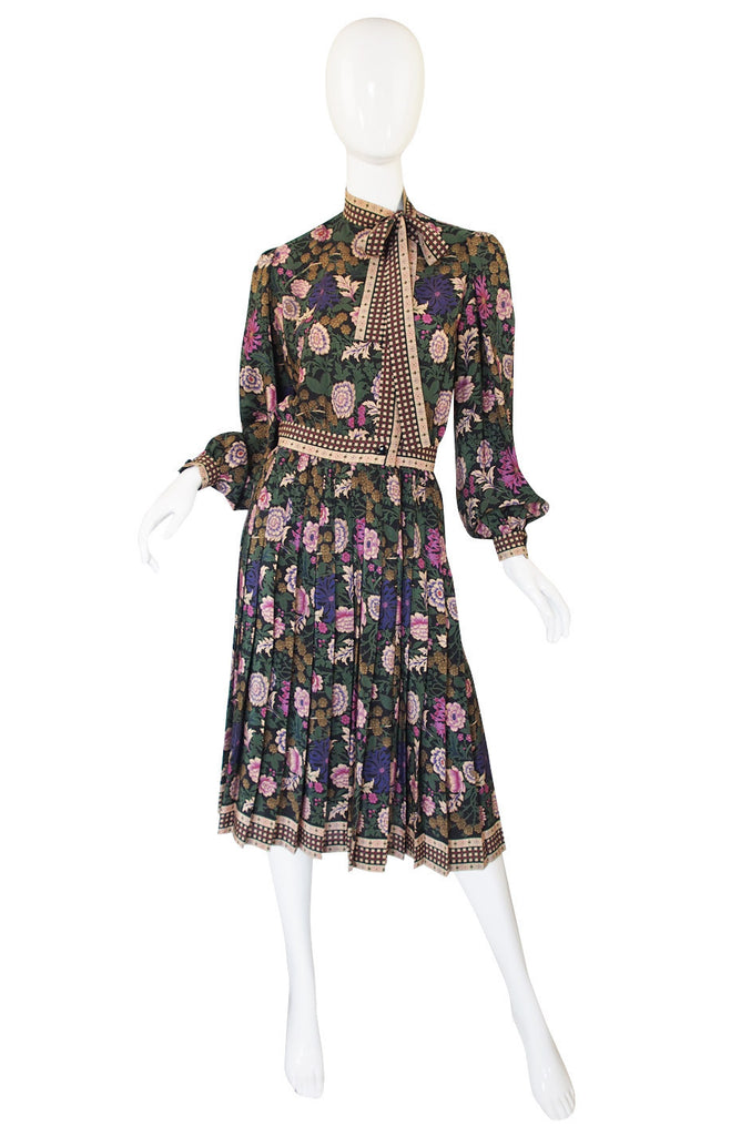 1970s Emanuel Ungaro Silk Print Dress