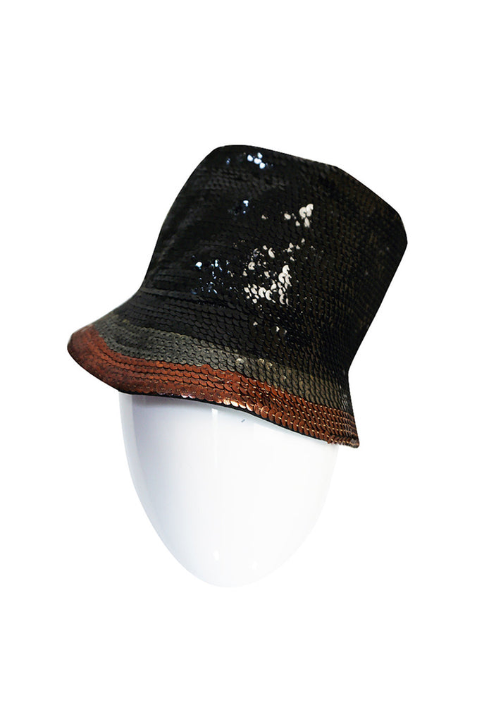 1970s Fabulous Sequin Yves Saint Laurent Hat
