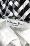 1995 Christian Dior by Gianfranco Ferre Runway Graphic B&W Dress