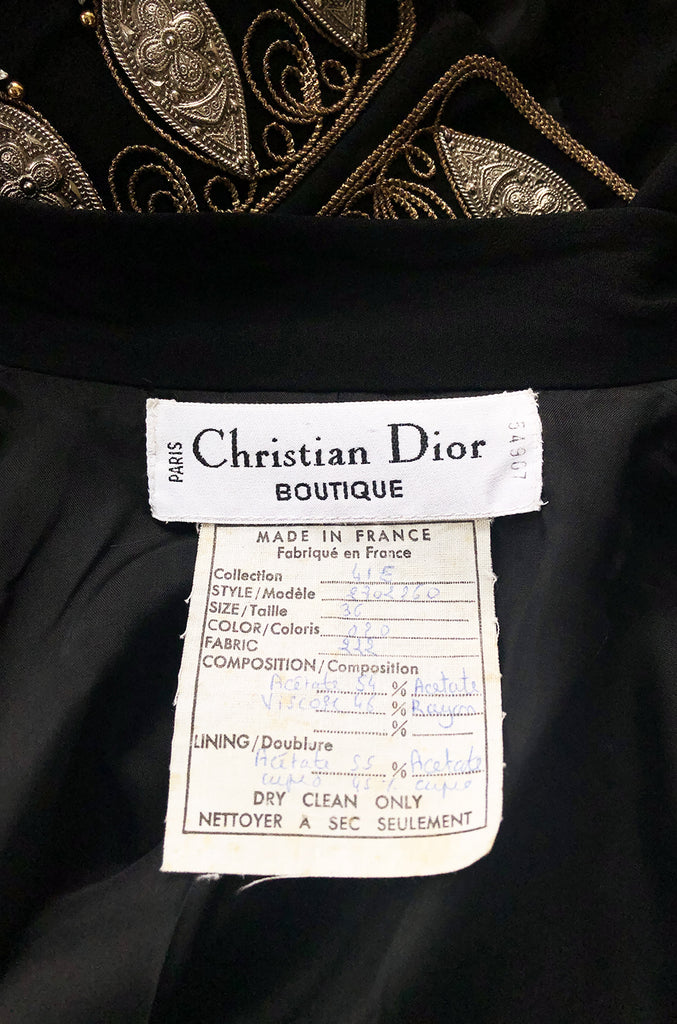 Spring 1994 Christian Dior by Gianfranco Ferre Jacket w Metal Accents
