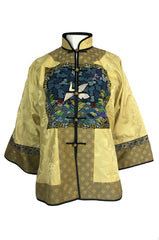 1980s Jenny Lewis Elaborate Embroided Needlepoint Woven Silk Jacket