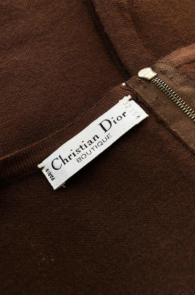 Spring 1994 Christian Dior by Gianfranco Ferre Runway Waxed Cord Top