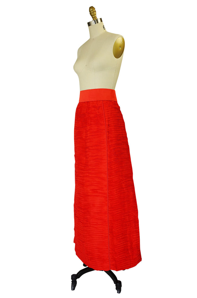 1960s Sybil Connolly Pleated Linen Skirt